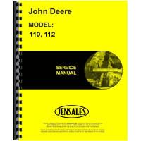 John Deere 110 Lawn & Garden Tractor Service Manual (SN# 100001-250000) (100001-250000)
