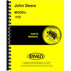 John Deere 112 Lawn & Garden Tractor Parts Manual (250,001 and up, 1966-1974)