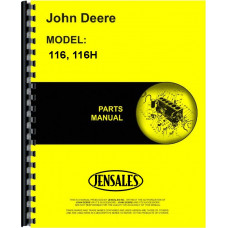 John Deere 116H Lawn & Garden Tractor Parts Manual