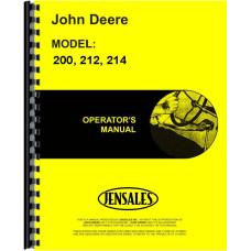 John Deere 212 Lawn & Garden Tractor Operators Manual
