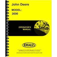John Deere 2030 Tractor Operators Manual (SN# 0-187300)