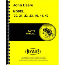 John Deere 20 Cultivator Parts Manual (Two-Row, Row-Crop)