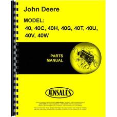 John Deere 40C Crawler Parts Manual