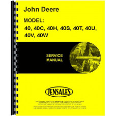 John Deere 40 Tractor Service Manual