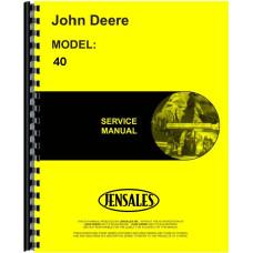 John Deere 40 Combine Service Manual
