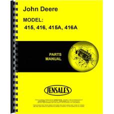 John Deere 415A Plow Parts Manual (Integral, Moldboard, 2 Bottom)