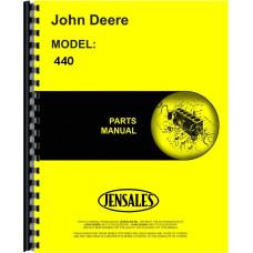 John Deere 440 Crawler Parts Manual (Gas)