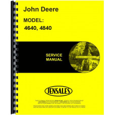 John Deere 4640 Tractor Service Manual (Chassis Only)
