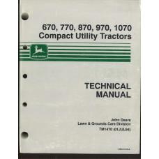 John Deere 870 Tractor Service Manual