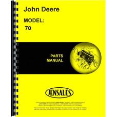 John Deere 70 Tractor Parts Manual (JD-P-PC313)