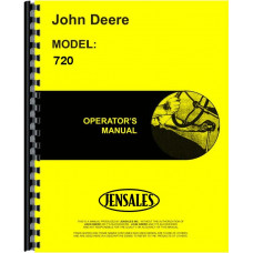 John Deere 720 Tractor Operators Manual (7214900 & up)