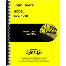 John Deere 830 Tractor Operators Manual (3 Cyl)