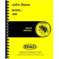John Deere 830 Tractor Parts Manual (3 Cylinder)