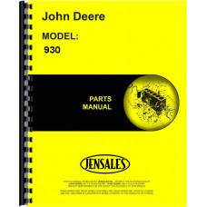 John Deere 930 Roller Harrow Parts Manual (Roller)