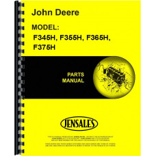 John Deere F365H Plow Parts Manual (Power-Reset, Moldboard, 4-6 Bottom)