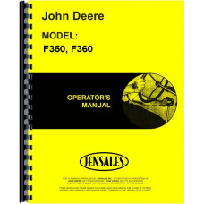 John Deere F350 Plow Operators Manual (Power-Reset, Semi-Integral, Moldboard, 4-7 Bottom)