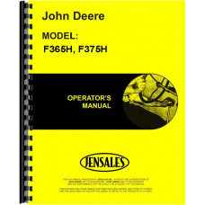 John Deere F365H Plow Operators Manual (Power-Reset, Drawn, Moldboard, 4-6 Bottom)