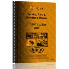 Kohler 1.5KVA, 1.5KW, 2KW Electric Plant Service Manual