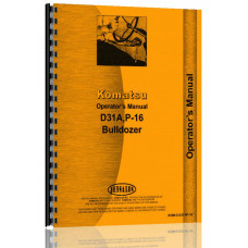 Komatsu D31A Crawler Operators Manual