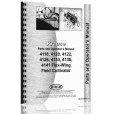 Krause 4118, 4120, 4122, 4126, 4129, 4133, 4138, 4141 Flex-Wing Field Cultivator Operators & Parts Manual (Flex Wing Field)