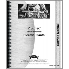 Kohler 500W-115KW Electric Plant Service Manual