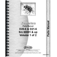 Komatsu D20P-6 Crawler Parts Manual (SN# 60001 and Up)