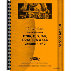 Komatsu D20PLL-6 Crawler Service Manual (SN# 60001 and Up) (Chassis)