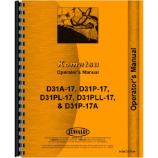 Komatsu D31PLL-17 Crawler Operators Manual (SN# 32003 & Up)