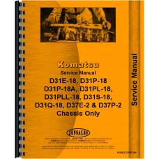 Komatsu D31P-18A Crawler Service Manual (SN# 40001 and Up) (Chassis)