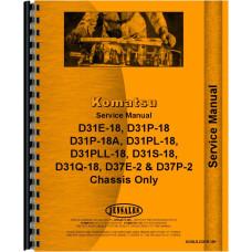Komatsu D31P-18 Crawler Service Manual (SN# 40001 and Up) (Chassis)