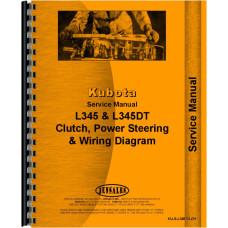 Kubota L345 Clutch, Steering, Power Steering, Service & Maintenance, Checks, Wiring Diagram Service Manual