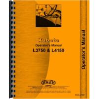Kubota L3750 Tractor Operators Manual