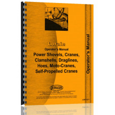 Lorain 33A Crawler Crane, Boom, Shovel Operators Manual