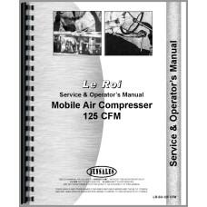 Leroi 125 Tract Air Tractor & Air Compressor Service & Operators Manual