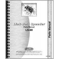 Link Belt Speeder LS-68 Drag Link or Crane Parts Manual