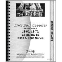 Link Belt Speeder K-500 Drag Link, Crane Shovel, Clamshell, Trench Hoe, Photo Overhaul Service Manual