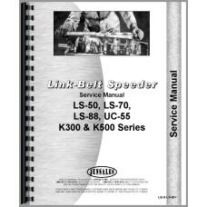 Link Belt Speeder K-300 Drag Link, Crane Shovel, Clamshell, Trench Hoe, Photo Overhaul Service Manual