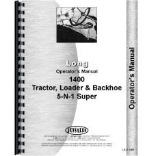 Long 1400 Tractor Loader Backhoe Operators Manual