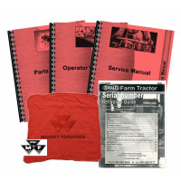 Massey Ferguson 230 Gas and Diesel, (0-9A349200) Deluxe Tractor Manual Kit