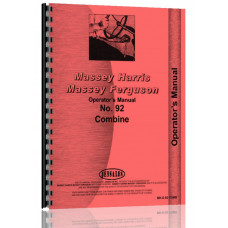 Massey Harris 92 Combine Operators Manual