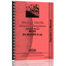 Massey Ferguson 285 Tractor Operators Manual (Sn# 9A349200 and Up) (9A349200+)