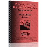 Massey Ferguson 320 Backhoe Attachment Operators Manual