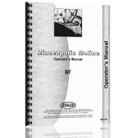 Minneapolis Moline BF Tractor Operators Manual