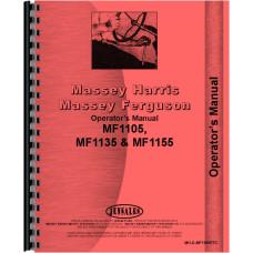 Massey Ferguson 1105 Tractor Operators Manual