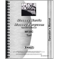 Massey Ferguson 20C Industrial Tractor Operators Manual (Industrial Turf)