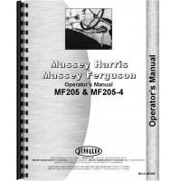 Massey Ferguson 205 Tractor Operators Manual