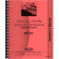 Massey Ferguson 231 Tractor Operators Manual (1989-1999)
