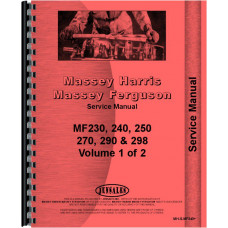 Massey Ferguson 290 Tractor Service Manual (Up to 1986)
