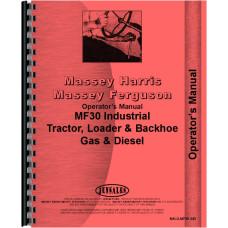 Massey Ferguson 30 Industrial Tractor Operators Manual