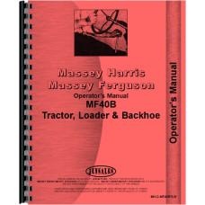 Massey Ferguson 40B Industrial Tractor Operators Manual